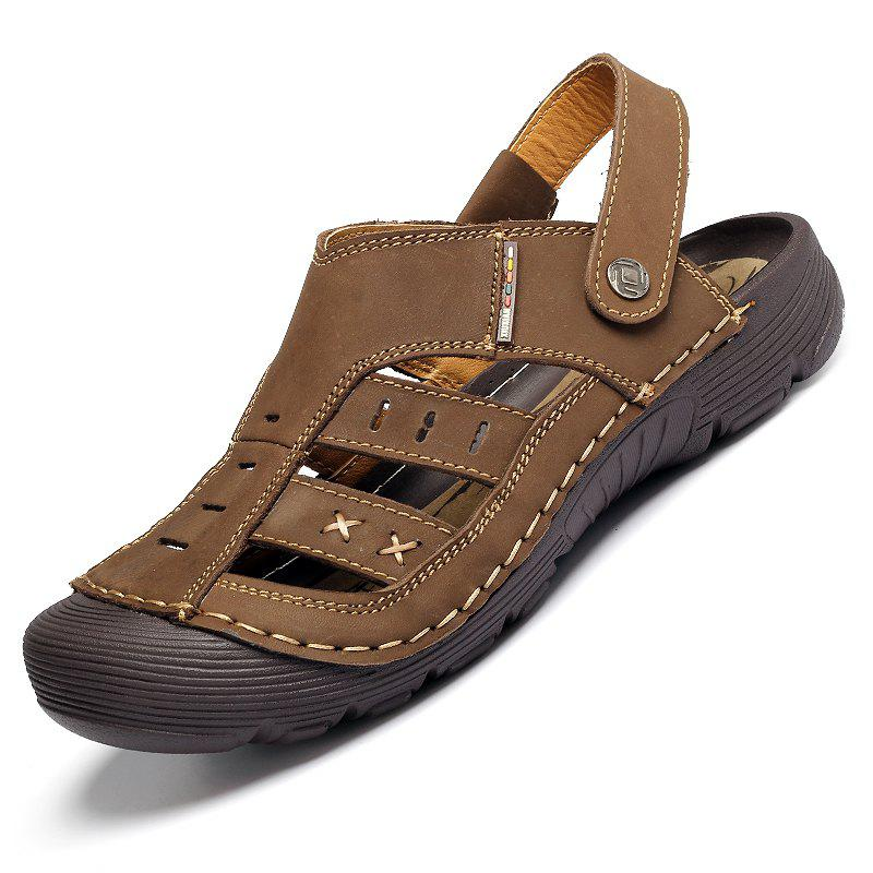 Outfit Men Casual Fashion Sandals Leather Shoes