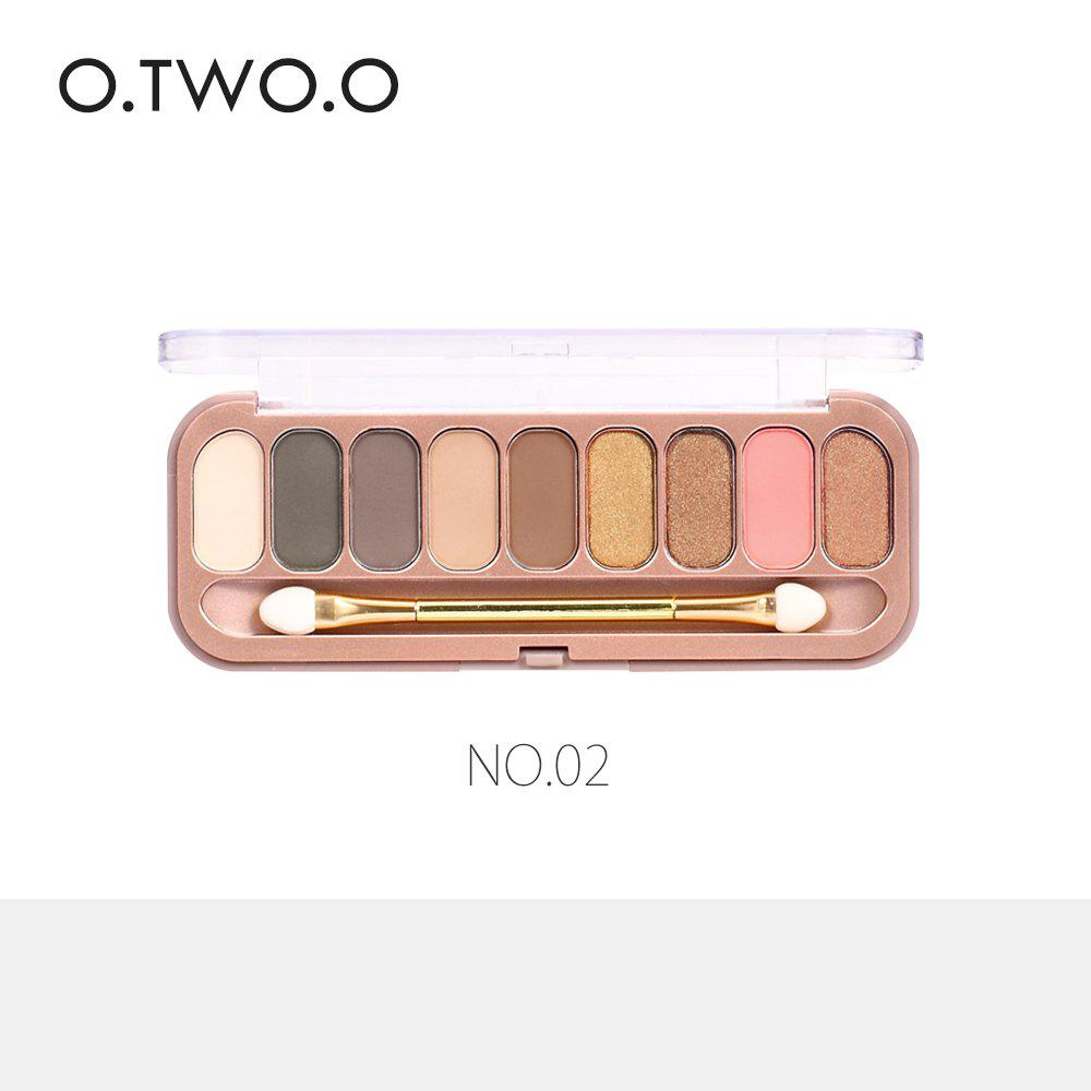Fashion O.TWO.O 9 Colors Palette Eyeshadow With Brush Make Up Eye Shadow for Women Girl Gift