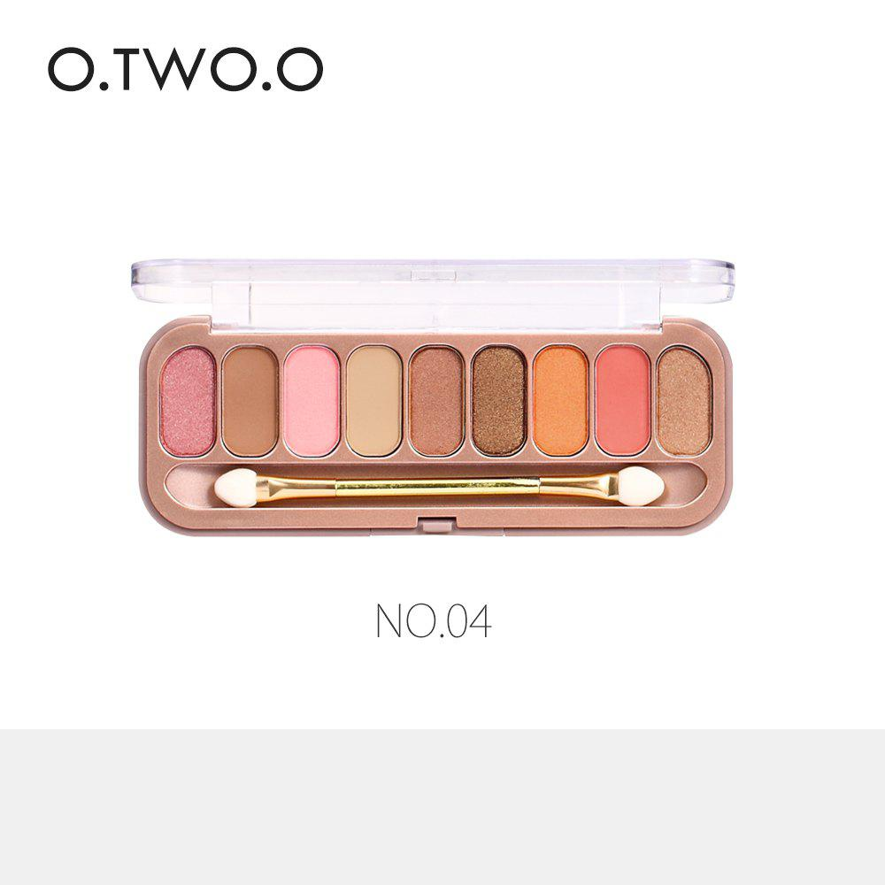 New O.TWO.O 9 Colors Palette Eyeshadow With Brush Make Up Eye Shadow for Women Girl Gift