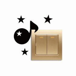 Personalized Musical Note Light Switch Creative Vinyl Wall Sticker Bedroom Decor -