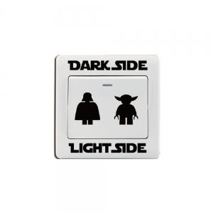 Dark Light Switch Sticker Classic Decal DIY Cartoon Vinyl Kids Room Home Decor -