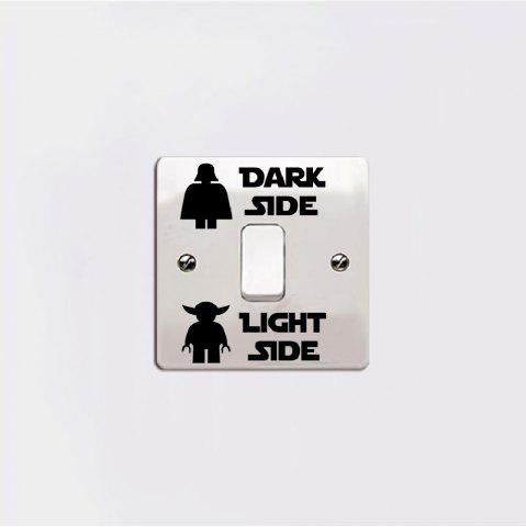 Latest Dark Light Switch Sticker Classic Decal DIY Cartoon Vinyl Kids Room Home Decor