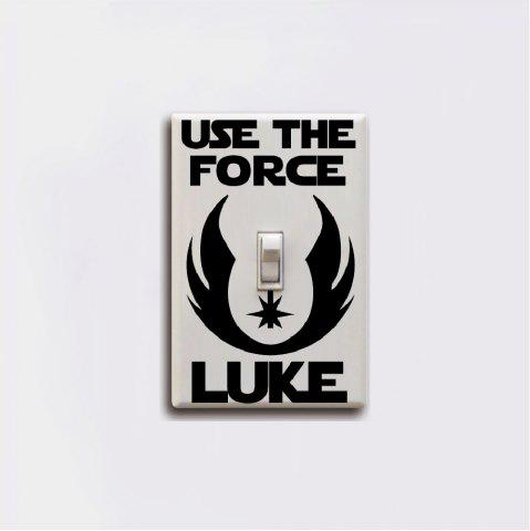 Classique Film Force Luke Skywalker Interrupteur Autocollant Vinyle Sticker Home Decor