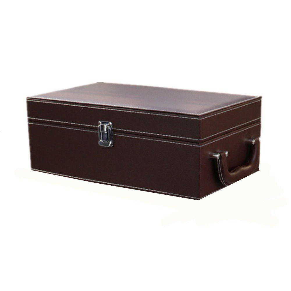 Affordable 2 Sets of PU Leather High-End Wine Box