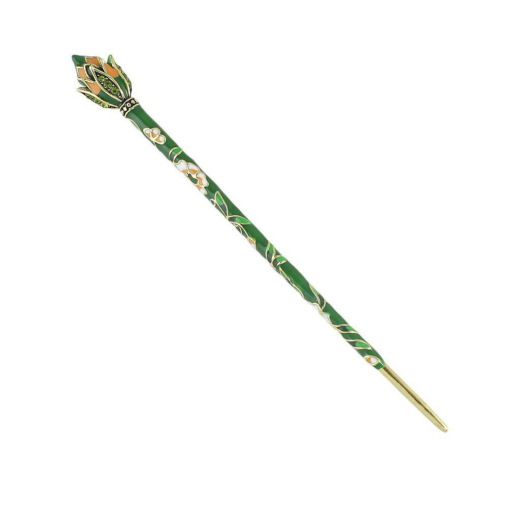 Chic Colorful Enamel Flower Long Hair Sticks Bohemian