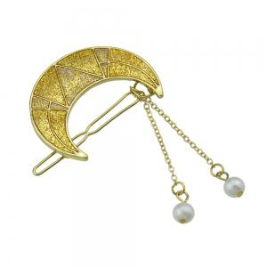 Gold-Color Shape Hairgrips with Simulated-pearl -