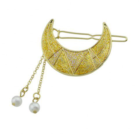 Outfit Gold-Color Shape Hairgrips with Simulated-pearl