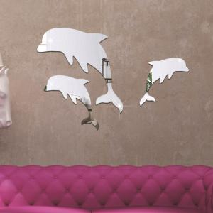 TV Sofa Bedroom Background 3D Stereo Can Remove Mirror Wall Stickers -