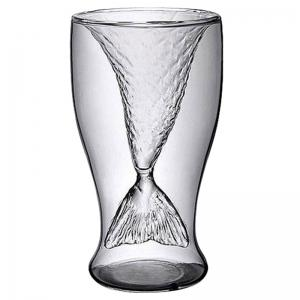 100ml Creative Mermaid Shape Glass Wine Beer Cup for Bar Party -