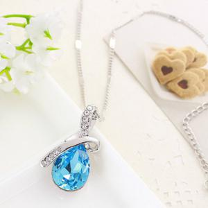 Girl New Popular Water Drop Gem Angel'S Tears Crystal Necklace Accessories -