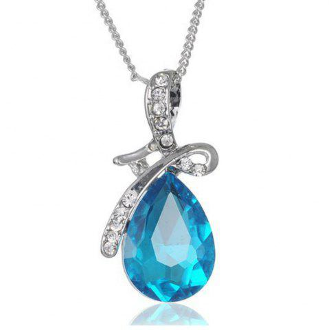 Buy Girl New Popular Water Drop Gem Angel'S Tears Crystal Necklace Accessories