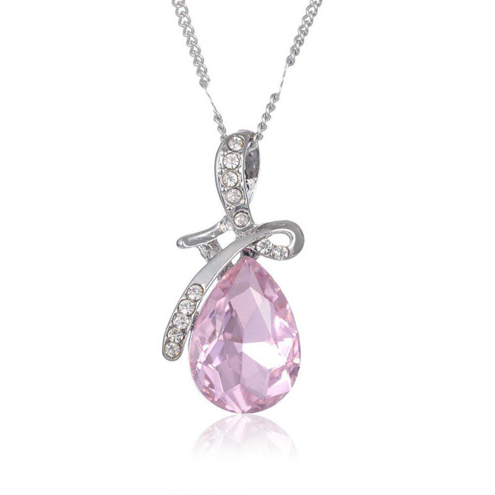 Discount Girl New Popular Water Drop Gem Angel'S Tears Crystal Necklace Accessories