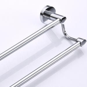 Bathroom Storage Rack Stainless Steel Towel Holder Double Poles -