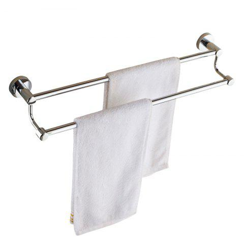Trendy Bathroom Storage Rack Stainless Steel Towel Holder Double Poles