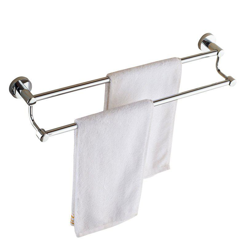 Online Bathroom Storage Rack Stainless Steel Towel Holder Double Poles