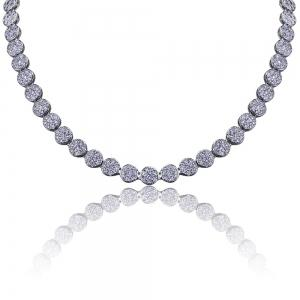Hip Hop 18K Gold/Silver Plated Micro Paved CZ Stone Necklace -