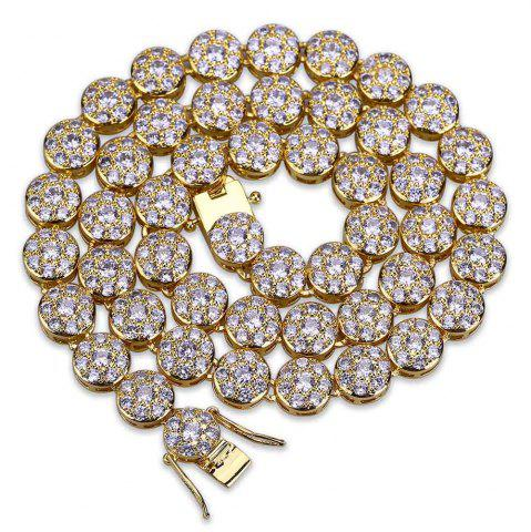 New Hip Hop 18K Gold/Silver Plated Micro Paved CZ Stone Necklace