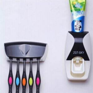Fashion Home Toothpaste Dispenser Toothbrush Holder Bathroom Products -