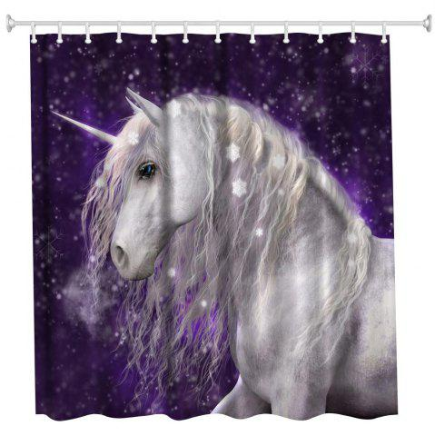 Sale Snowflake Unicorn Water-Proof Polyester 3D Printing Bathroom Shower Curtain