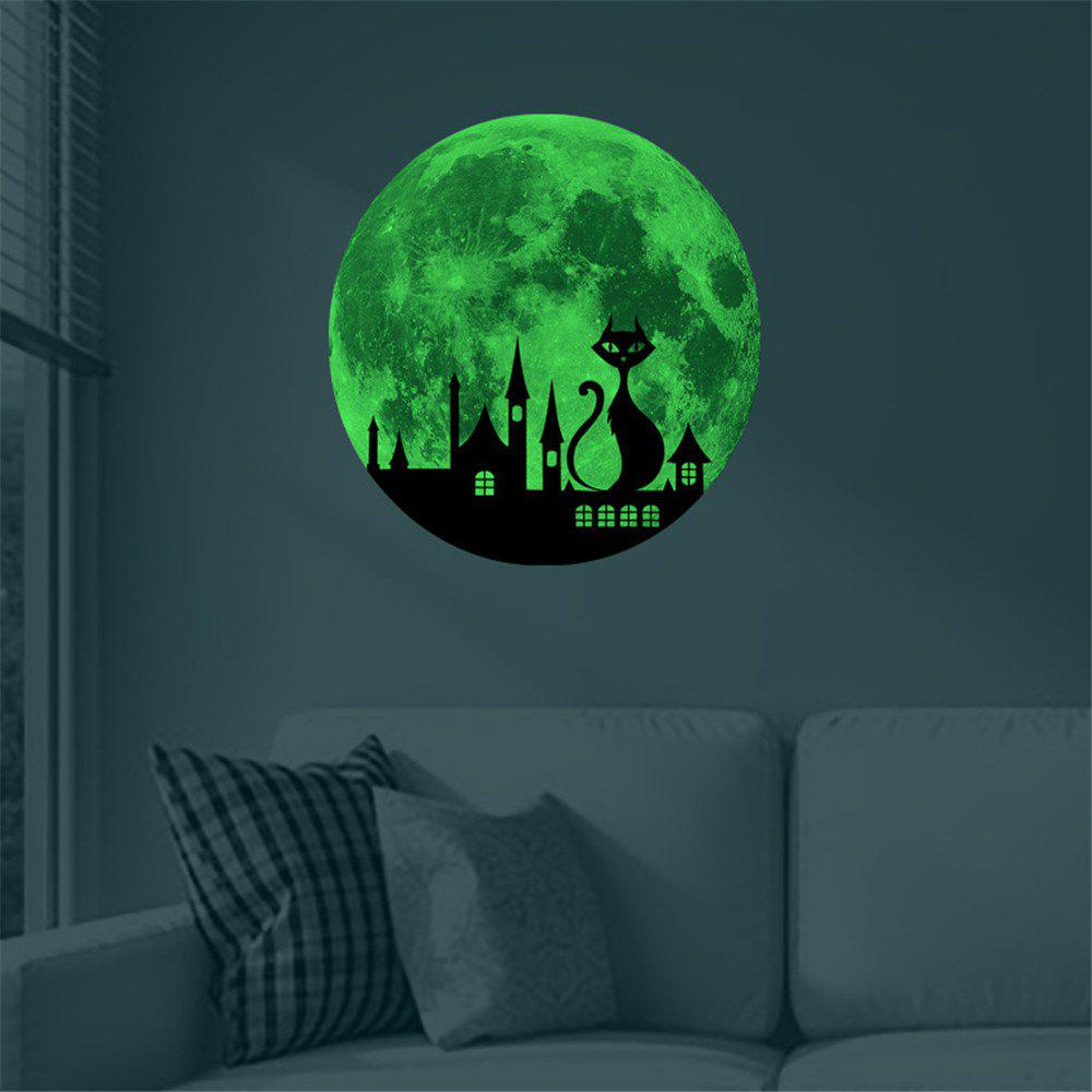Unique Cat and Castle 30 Cm Luminous Wall Stickers Children Room Decoration