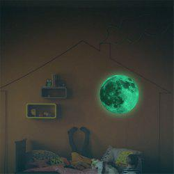 Glow in the Dark Moon Wall Decals 30CM Luminous Sticker At Night -