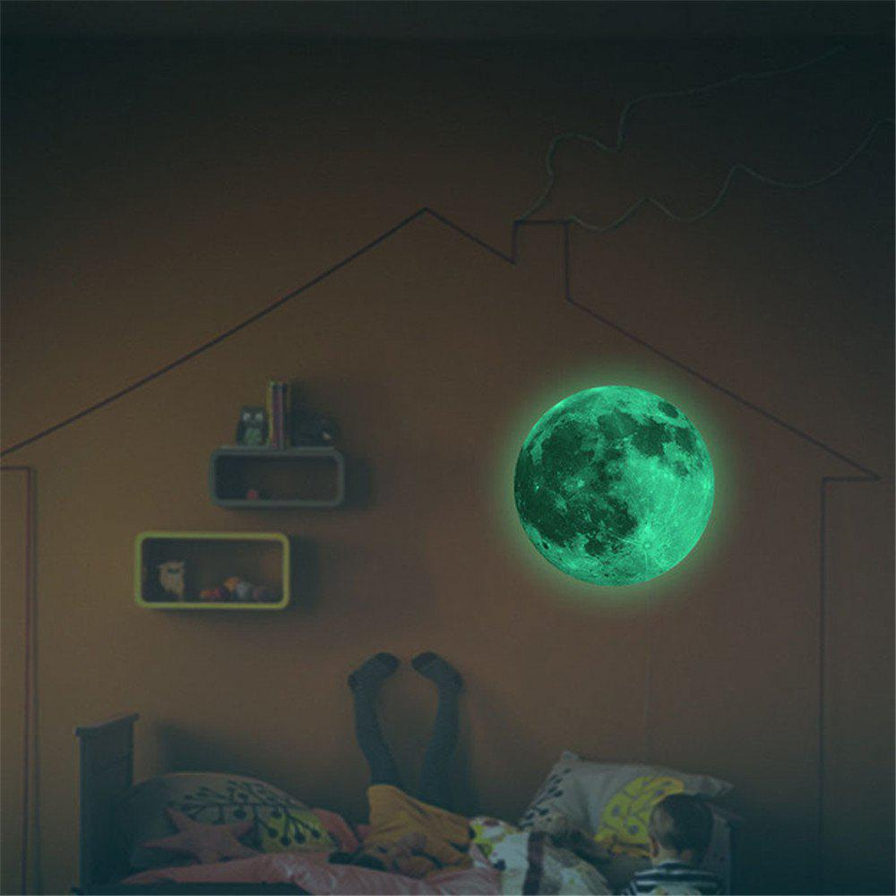 Latest Glow in the Dark Moon Wall Decals 30CM Luminous Sticker At Night
