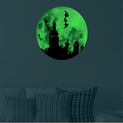Outfit Glow In The Dark Bats Castle Wall Decals 30CM Luminous Sticker At Night