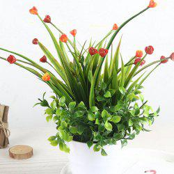 Modern Artificial Rose with Pot -