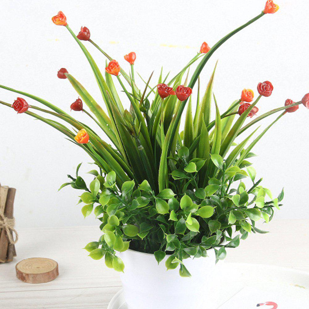 Store Modern Artificial Rose with Pot