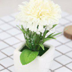 Carnation Artificial Flower with Pot -