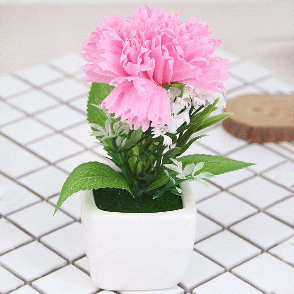 Fancy Carnation Artificial Flower with Pot