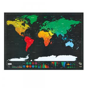 Black Luxury Edition Scratch World Map 82.5 X 59.4CM -