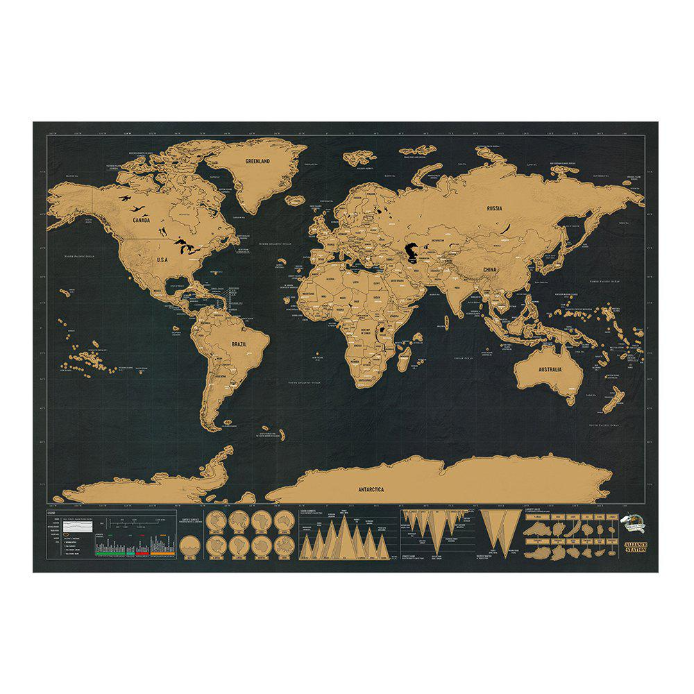 Outfits Black Luxury Edition Scratch World Map 82.5 X 59.4CM