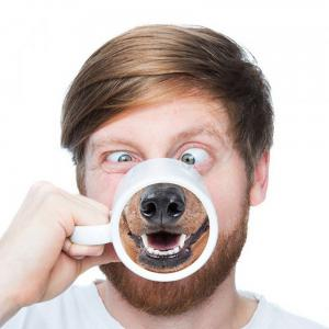 New Spoof Funny Dog Nose Creative 3D Ceramic Marker Cup -