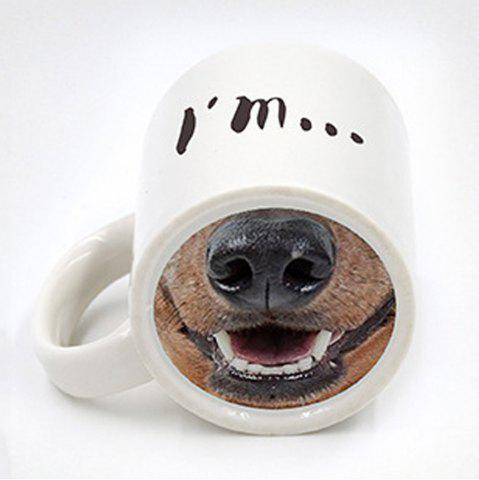 Latest New Spoof Funny Dog Nose Creative 3D Ceramic Marker Cup