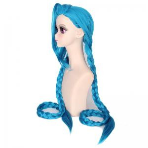 Girls Blue Super Long Braid Best Synthetic Hair Cosplay Wig Party Costume -
