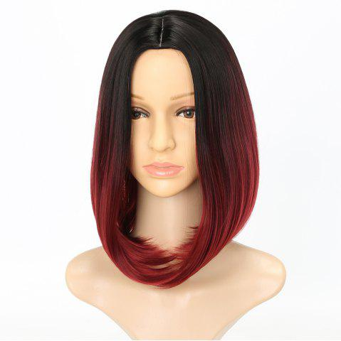 Fashion Fashion Natural Straight Bob Cut Ombre Color Synthetic Short Hair Wigs with Skin