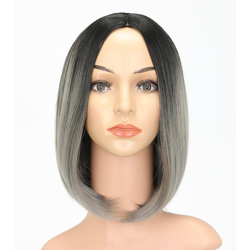 Store Fashion Natural Straight Bob Cut Ombre Color Synthetic Short Hair Wigs with Skin