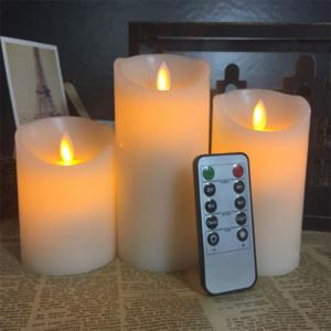 3Pcs LED Swing Electronic Candle Home Romantic Decoration Lights -