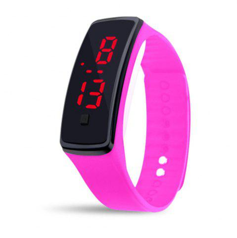 Fancy Mens Womens Rubber LED Watch Date Sports Bracelet Digital Wrist Watch