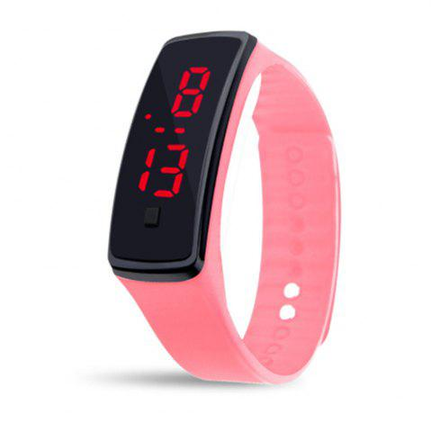 Shop Mens Womens Rubber LED Watch Date Sports Bracelet Digital Wrist Watch