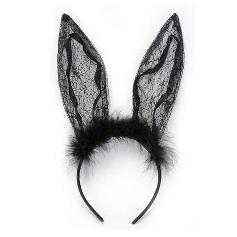 Shops DTT19 Women's Hair Band Lace Rabbit Sweet Sexy Stylish