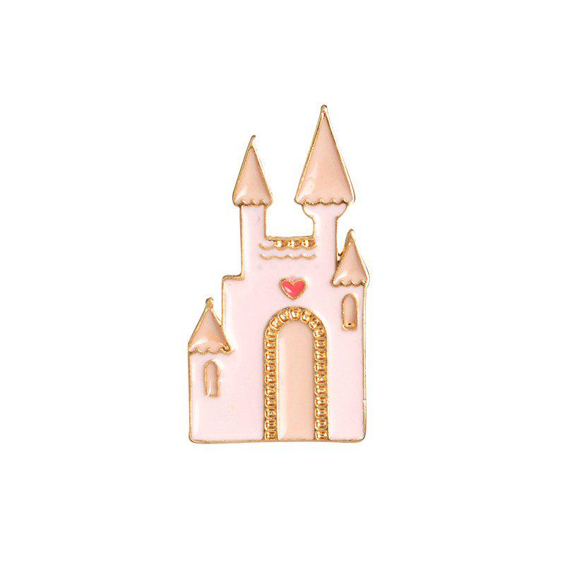 Fancy Fashion Accessories Pink Girl Dream Castle Cartoon Brooch