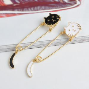 Fashion Creativity Personality Cute Creative Cat Tail Brooch Big Pin -