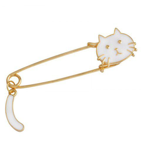 Affordable Fashion Creativity Personality Cute Creative Cat Tail Brooch Big Pin