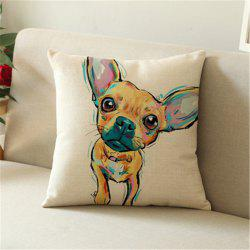 Lovely Painted Dog Linen Home с наволочкой -