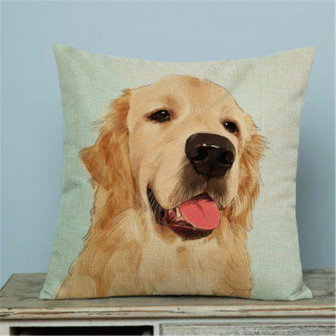 Shop Simple and Lovely Pet Dog Flax with Pillow Cover Home Decoration