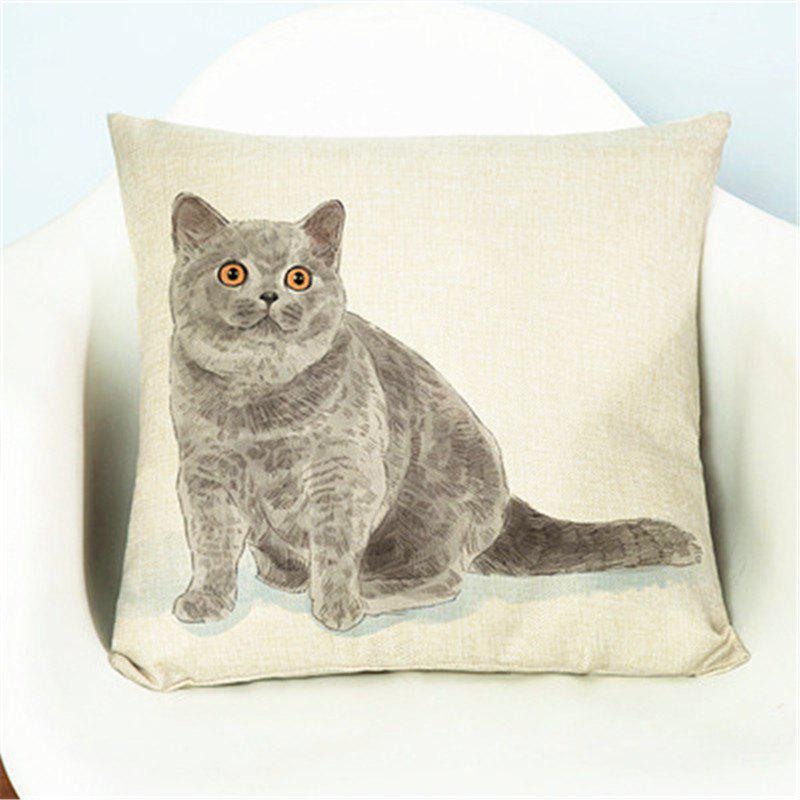 New Creative Cute Pet Cat Flax with Pillow Cover Home Decoration