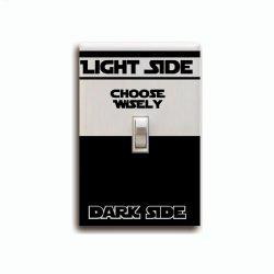 Words Fashion Dark Side CHOOSE WISELY Switch Sticker Room Vinyl Decal -