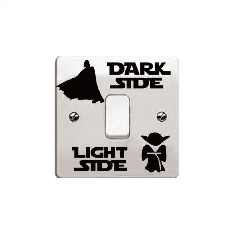 Online New Dark Light Side Vinyl Switch Sticker Fashion Accessories Vinyl Decal
